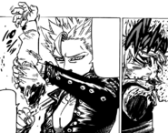 Ban taking Meliodas hand