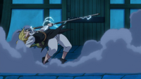 Meliodas catching Gilthunder's spear
