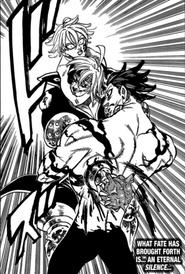 Monspeet sacrificing himself