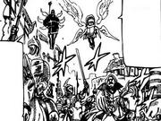 Sariel and Tarmiel along the Holy Knights