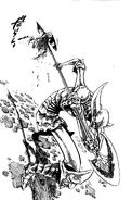 Galand stabbing Meliodas