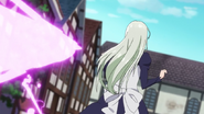 Elizabeth about to get hit by Gowther's attack
