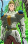Hauser em sua armadura