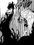 Elizabeth grabbed by a berserk Estarossa