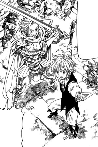 File:Meliodas and Arthur teaming up.png