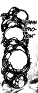 Geera hitting Meliodas with her Chain Explosion