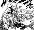 Arthur using Mumyo no Mai to block Zeldris' attacks.png
