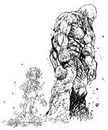 Dolor Golem y Muñeco de Flores