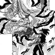 Demon King ordering Zeldris to recover Meliodas