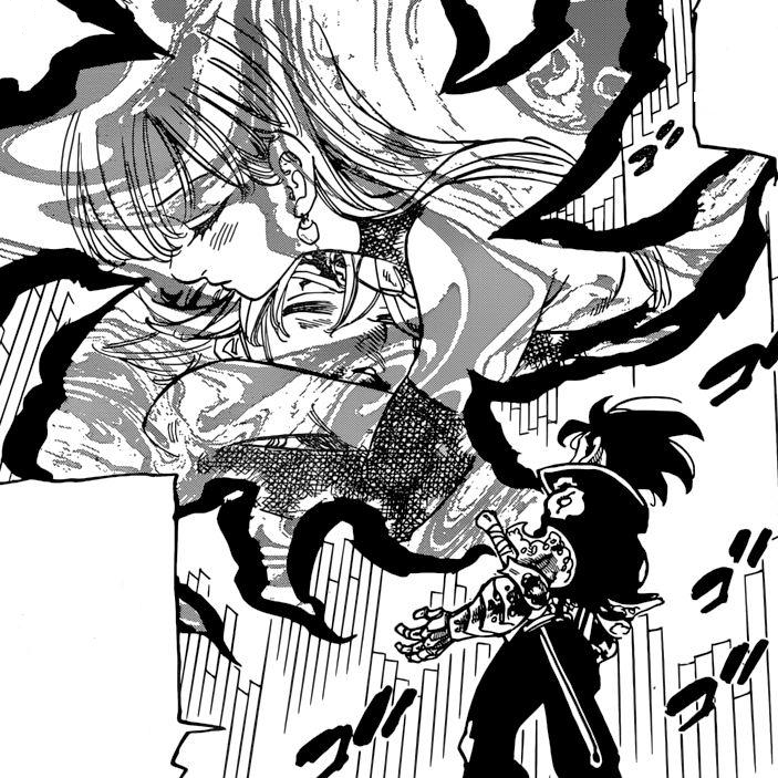 Image - Demon King ordering Zeldris to recover Meliodas ...