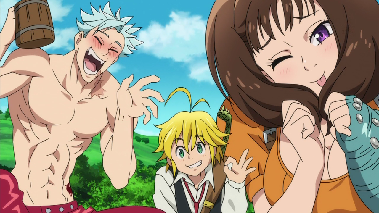 Diane Meliodas And Ban Saying Their Lost Sacred Weapons