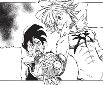 Zeldris tell Meliodas that he can replace the Demon King