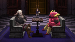 Friesia and Golgius playing chess