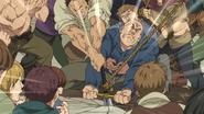 Próby wyciagniecia miecza przez mieszkańcow Bernii