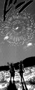 Meliodas and Elizabeth watching the fireworks
