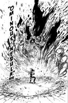 Zeldris using Ominous Nebula against the Demon King