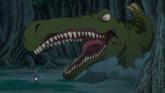 An Earth Crawler attacks Gilfrost