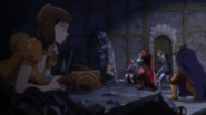 Diane encountering the Holy Knights in Liones