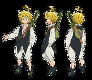 Meliodas anime character designs 2