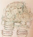 Hajime and enki eating