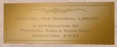 Dedication Plaque