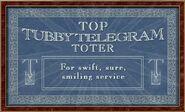 Top Tubby Telegram Toter