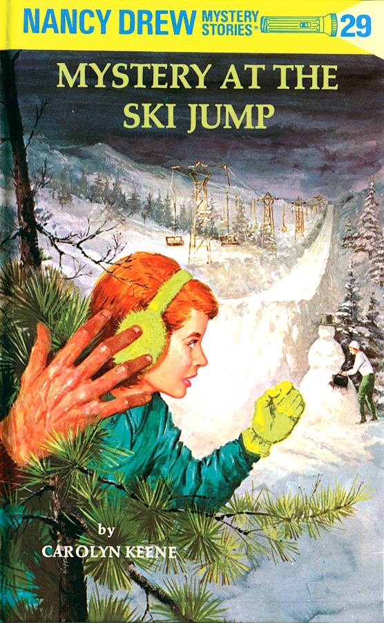 Mystery-ski-jump-carolyn-keene-hardcover-cover-art