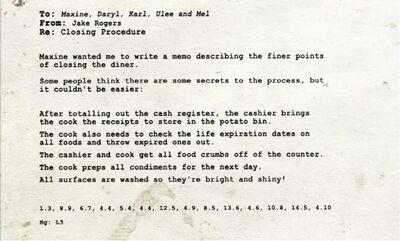 Diner Message
