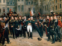 Napoleon's farewell to the Guard at Fontainbleau-April 20th, 1814