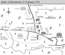 Battle of Montmirail map