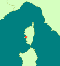 Ajaccio location