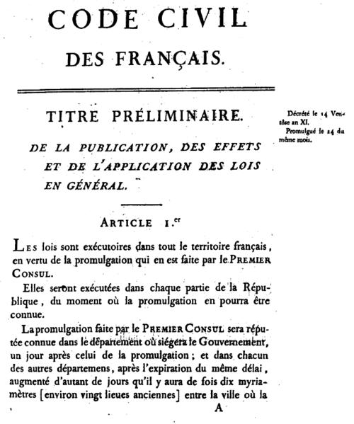 napoleons code