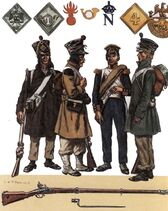 French Infantry during the 1814 Campaign in France.