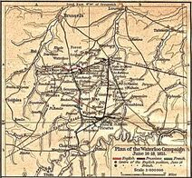Map waterloo campaign