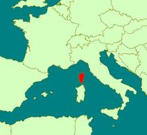 Corsica location