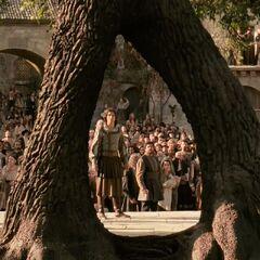 Аслан открывает портал на Землю