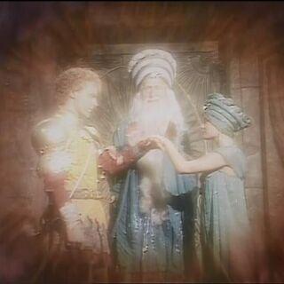 Раманду благословляет Каспиана и свою дочь
