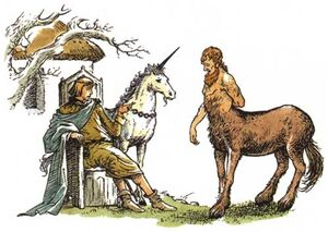 Unicorn from Narnia, illustration