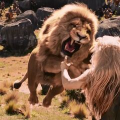 Аслан убивает Колдунью