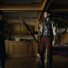 Каспиан отдаёт меч Питера Эдмунду