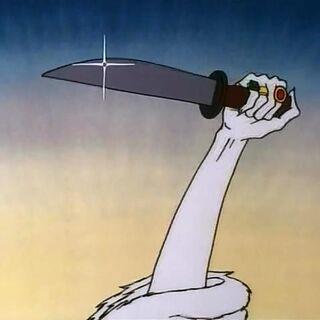 Нож Колдуньи в мультфильме