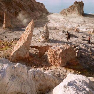 Плато у входа в пещеру