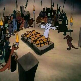 Аслан на Каменном столе в мультфильме