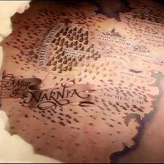 Карта Нарнии в открывающей сцене