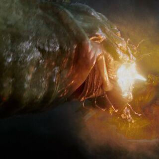 Юстас-дракон сражается с морским змеем