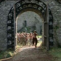 Освобождение пленников замка