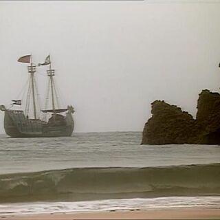 Покоритель Зари в бухте острова