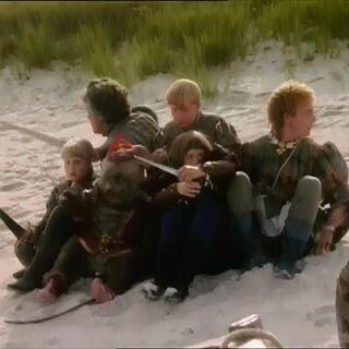 Песчаный пляж в сериале