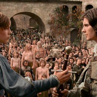 Питер отдаёт свой меч Каспиану