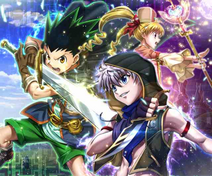 Gon,Killua and Biscuit Hunter Quest Card 1
